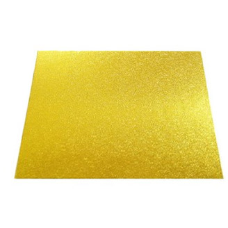 "13"" Gold Square 4mm Thick Wooden Cakeboard"