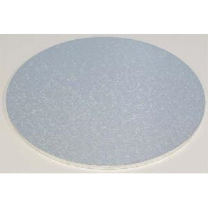 "9"" Silver Round 4mm Thick Wooden Cakeboard"