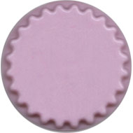 Round Fluted Base.  Pink
