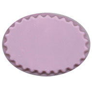 Oval Fluted Base.  Pink