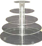 5 Tier Acrylic Cupcake Stand Hire