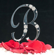 B Diamante Monogram Letter