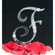 F Diamante Monogram Letter