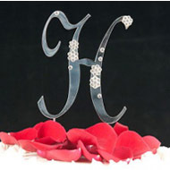 H Diamante Monogram Letter
