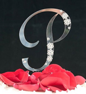 P Diamante Monogram Letter