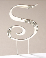 S Diamante Monogram Letter