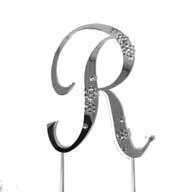 R Diamante Monogram Letter