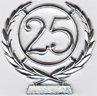 #25 Silver Wreath Number
