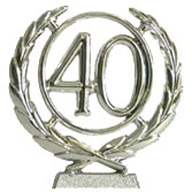 #40 Silver Wreath Number