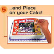 We post it to you or you collect, it is ready for placing on cake