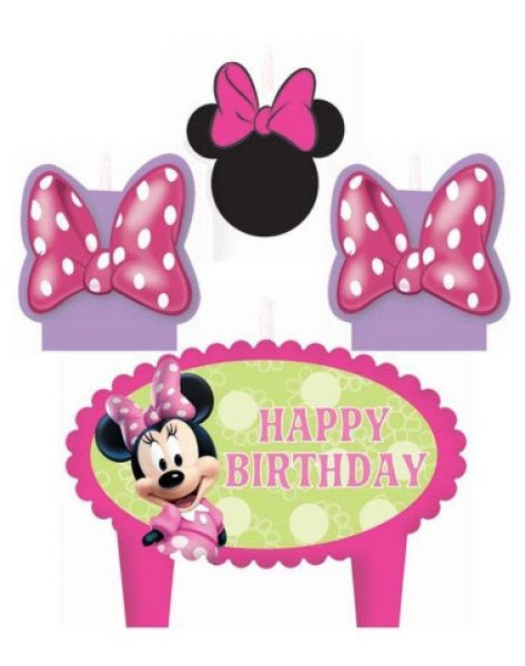 Candle Set Minnie Mouse