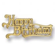 Gold Happy Birthday Plastic Scroll