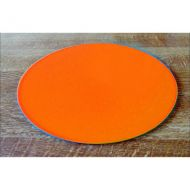 "Orange Acrylic 6"" Round Board"