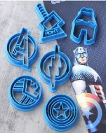 Avenger Cookie Cutters Set 6