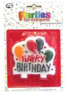 Birthday Balloons Banner Candle