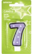 #7 Numeral Candle With Dots