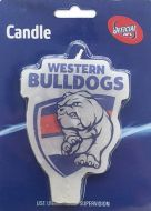 Western Bulldogs AFL Candle