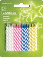 Assorted Stripe Candles