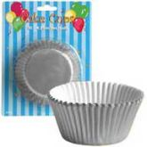 "4.75"" Silver Foil Cake Cups"