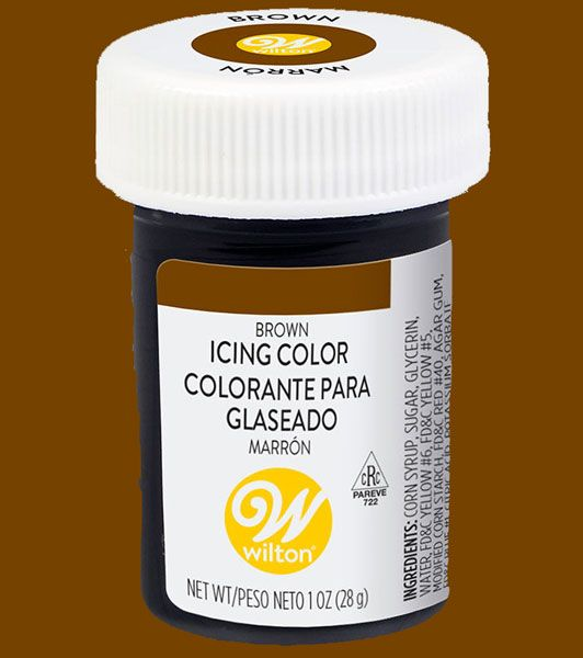 Brown Wilton Paste Icing Colour
