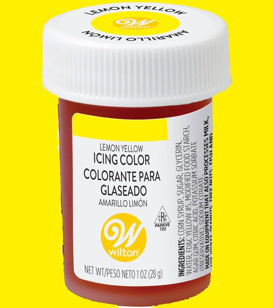 Lemon Yellow Wilton Paste Colour