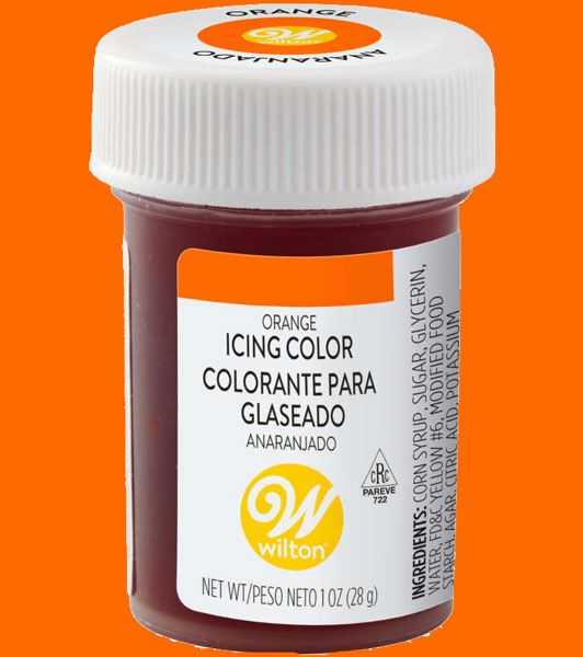 Orange Wilton Icing Paste Colour