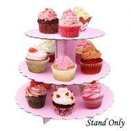 Pink with White Dot Cupcake Stand