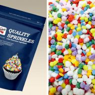 Rainbow Dots Sugar Shapes