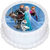 Frozen Group round Edible Image