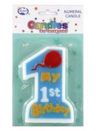 1st Bday Boy Jumbo Candle