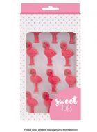 Pink Flamingo Sugar Decorations