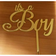 Its a Boy - Gold Acrylic Cake Topper