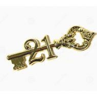 Gold 21st Key Antique