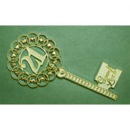 Gold 21st Horseshoe Key Large