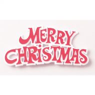 Red on White Merry Christmas Sign