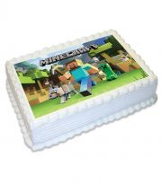 Minecraft A4 Edible Image