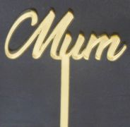 Mini Mum Gold Acrylic Cupcake Tops