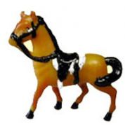 Small Plastic Horses with Saddles