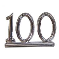 #100 Silver Dble Numeral