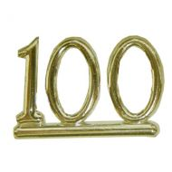 #100 Small Gold  Numeral