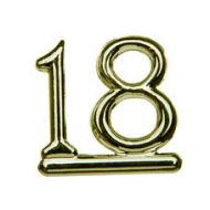 #18 Gold Double Numeral