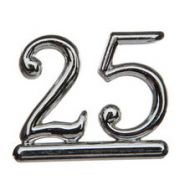 #25 Silver Double Numeral