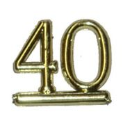 #40 Gold Double Numeral