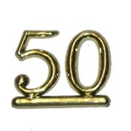 #50 Gold Double Numeral