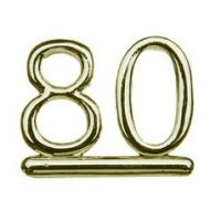 #80 Gold Double Numeral