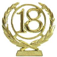 #18 Gold Wreath Number