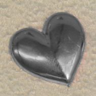 Solid Plain Heart. Silver
