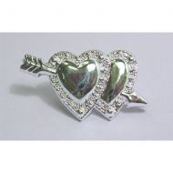 Dble Heart & Arrow Silver