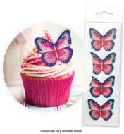 Pink & Purple Wafer Butterflies Pkt16