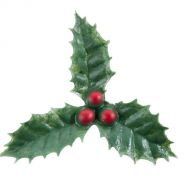 Plastic 3 Leaf Holly Pkt10